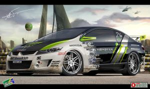 Honda City Monster Energy by kairusevon