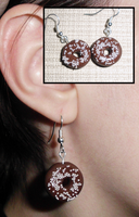 Chocolate Donut Earrings by UniqueTreats