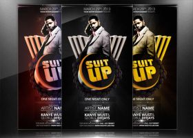 Suit Up - Flyer/Poster Template by mrwooo