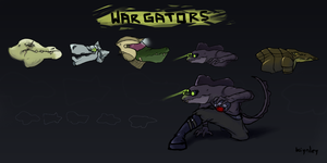 War Gators by kiynley