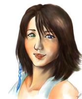 Final Fantasy X - Yuna by watercolormark