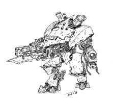 War Servitor concept no color by DarkLostSoul86