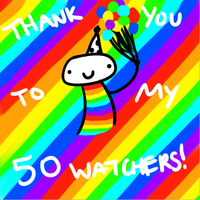 Thank you, my watchers! by artfanloveswolves
