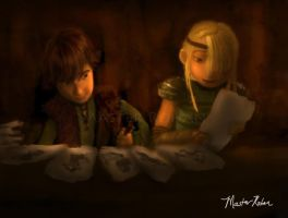 Hiccup and the Snoggletog Gifts by masterrohan