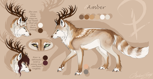 Amber Reference Sheet 2014 + Speedpaint by FrayedEntity