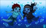 T-Gnomes~Tye and Tula~ Love Diving by LittleMissSquiggles