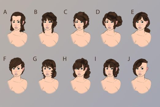(competition) hairstyles by NatteRavnen