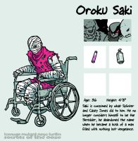 Secrets Of The Ooze: Oroku Saki by mooncalfe