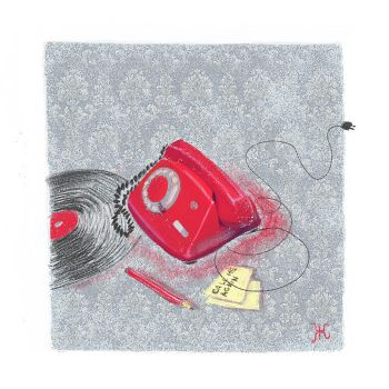 Red telephone by minificuS