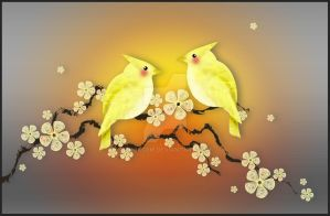 Little Yellow Birds by rockgem