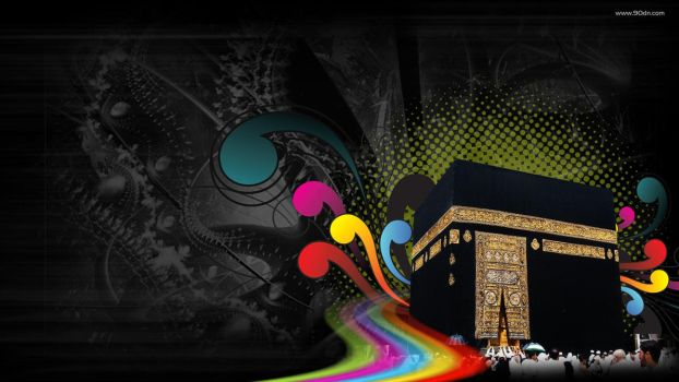 Makkah Abstract color Islamic by xtrememediaworx