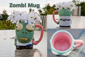 Zombi Mug by Demi-Plum