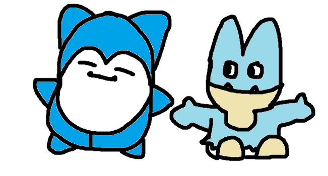 Snorlax and Munchlax by Snowflake16