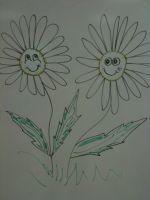 Daisy Eraser Board Drawing by originalwillow
