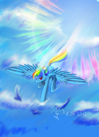 Rainbow dash by Dalagar