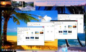AeroXP 1.1 (Windows 8 Transparent theme for XP) by UnderwaterSun