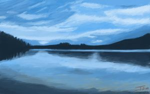 Landscape Speed Painting by Jamomie