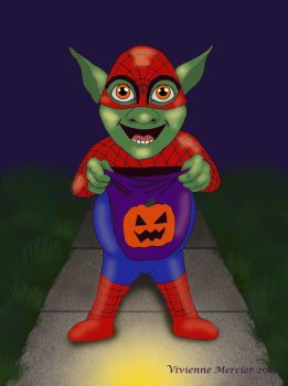 Trick or Treat goblin by Vivienne-Mercier