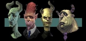 Devil faces by awesomeplex