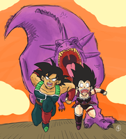 Bardock and Gine by Budgies