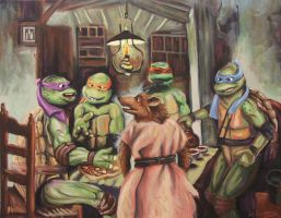 The Pizza Eaters by HillaryWhiteRabbit