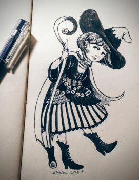Witchsona - Inktober Day 1 by stasiaarts