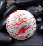 Jupiter - Glass Torch worked Cabochon by andromeda