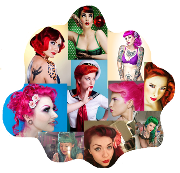 Pinup hair in color. by ThugLicorice