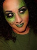 Monochromatic Green Makeup by anilorac186