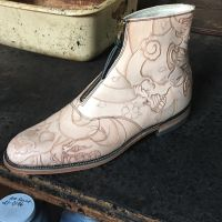 Outsider boots almost done 5 by RomeTheArtist