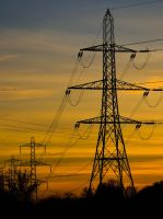 Pylons sunset by keithajb