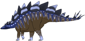 Blue Stegosaurus by StygimolochSpinifer