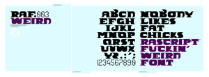 nobodylikesfatchicks font by Raven30412
