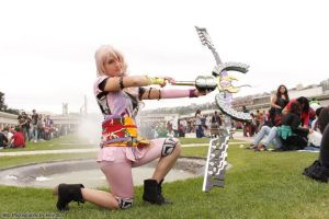 Serah DLC costume with Azrael Bow - pose 1 by NelielTheArrancar
