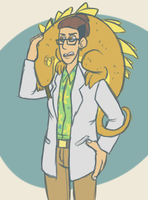 Venture Bros- Lizardy Scientist by Toxicmongoose