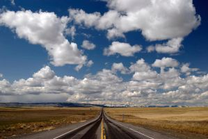 Clouded Road West by BWilliamWest
