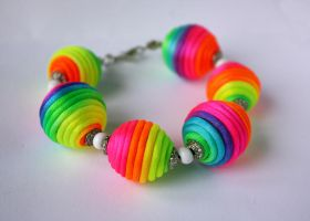 Rainbow bracelet by WhiteSquaw