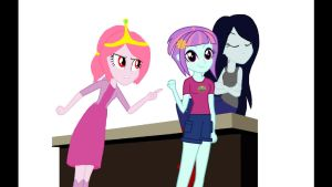 Princess Bubblegum And Sunny Flare by 1stProtype-Pro