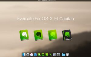 Evernote For OS X El Capitan by APPLEICON