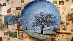 The January Tree in the Rearview Mirror (studio) by RobLock