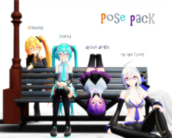 [mmd] Bench Pose pack by Noraure