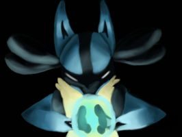 Lucario's Aura by SomeOrdinaryArtists
