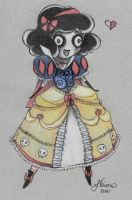 Cute Zombie Snow White Doodle by NoFlutter