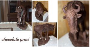 Chocolate Gnu Cake Topper by meaikoh