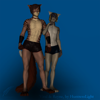 Viral + Reyne - 3D Couple Art by HuntressLight