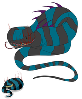 Egg Hatched - Stipey Monster Snake by ShadowInkAdopts