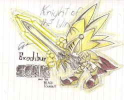 excalibur sonic quick sketch by evolvd-studios