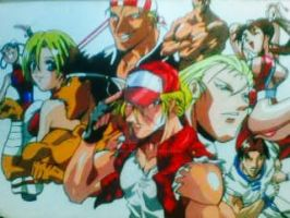 Fatal fury anime poster color ,old and lost by Amanoobaricom
