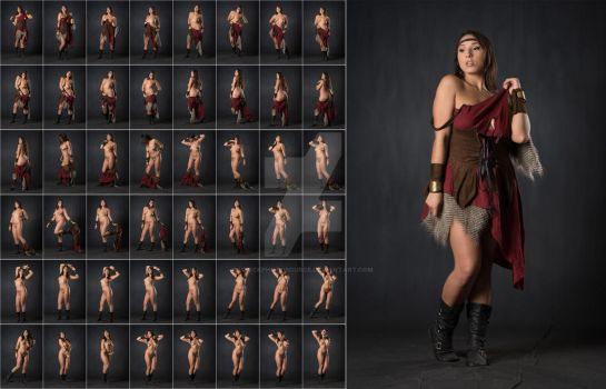 Stock: Julia Strips Off Medieval Outfit- 48 Images by stockphotosource