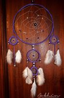 Purple and white dreamcatcher by YourLittleBunny
